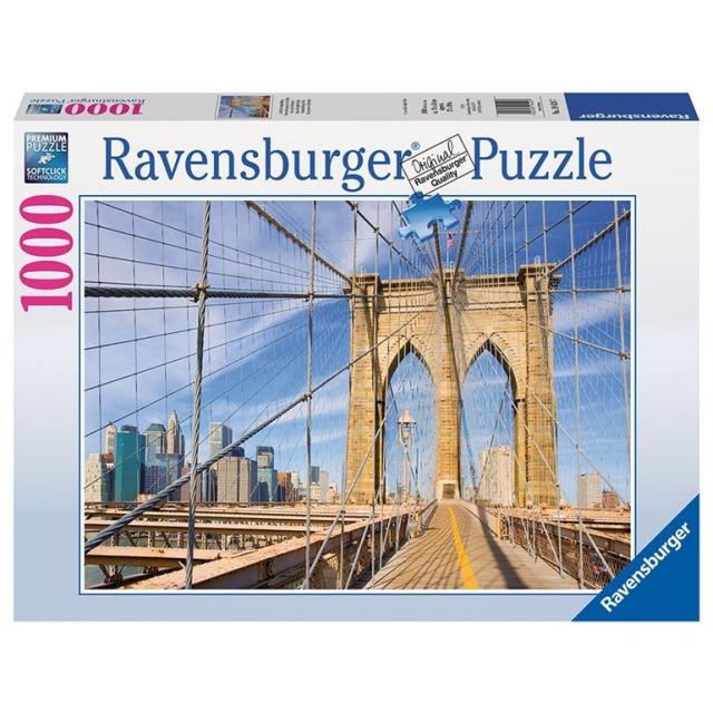 Obrázek produktu Puzzle Pohled z Brooklynského mostu 1000d. Ravensburger