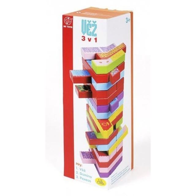 Obrázek produktu Věž 3v1: Jenga, Pexeso a Domino, Albi