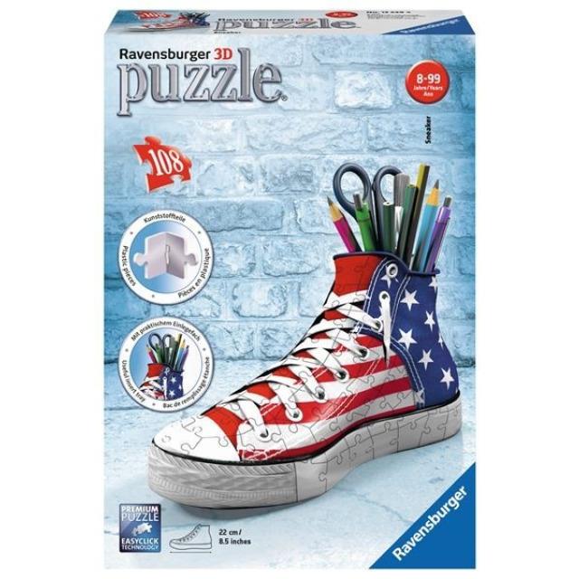 Obrázek produktu Ravensburger 12549 Puzzle 3D Kecka vlajkový design 108 dílků