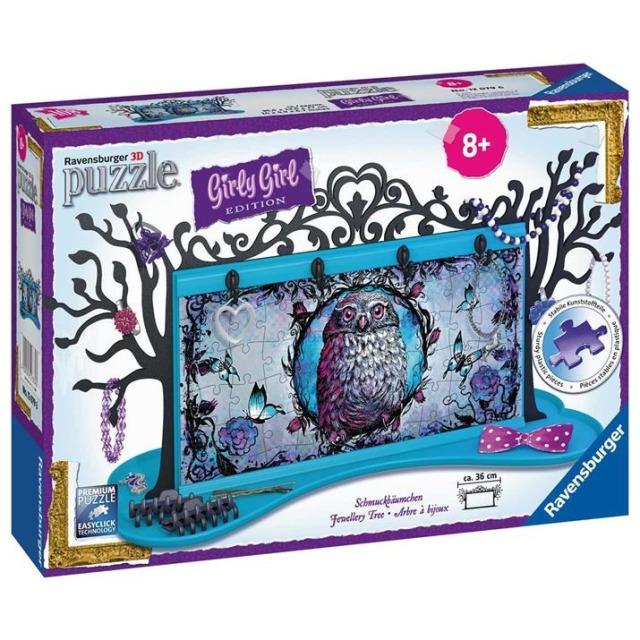 Obrázek produktu 3D Puzzle Šperkovnice Zvířecí motiv 108d. Ravensburger