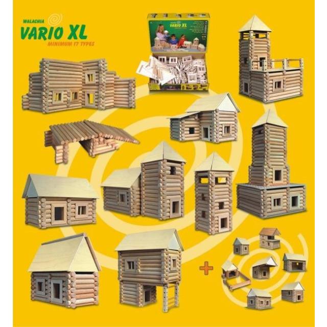 Obrázek produktu Walachia Vario XL 17 typů - dřevěná stavebnice - 184 dílů