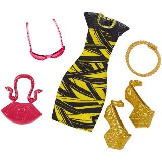 Obrázek 1 produktu Monster High módní kolekce - šaty a zlaté boty