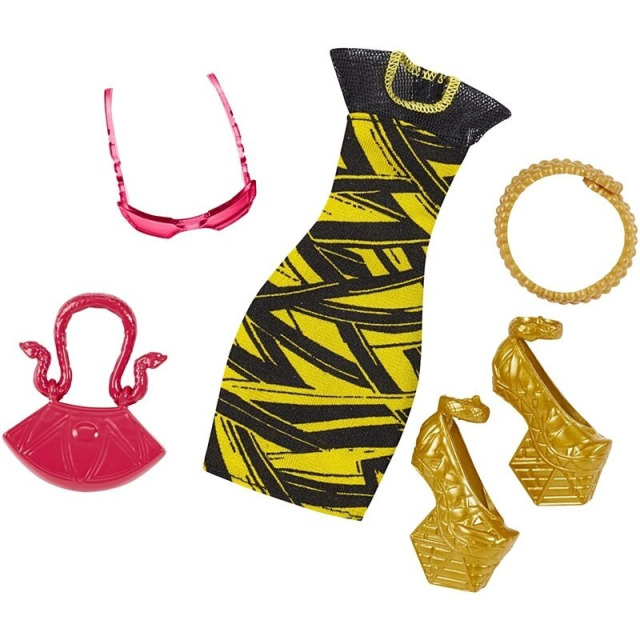 Obrázek produktu Monster High módní kolekce - šaty a zlaté boty