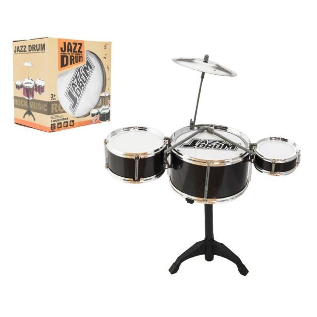 Obrázek produktu Dětská sada 3 bubnů JAZZ DRUM + činel (bicí souprava)