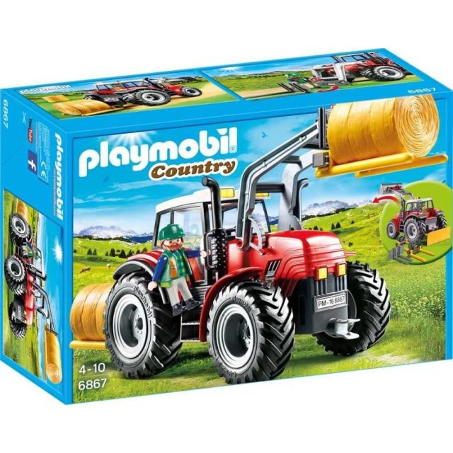 Obrázek produktu Playmobil 6867 Velký traktor se sběračem balíků slámy