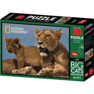 Obrázek 1 produktu 3D Puzzle Lvi 500 dílků