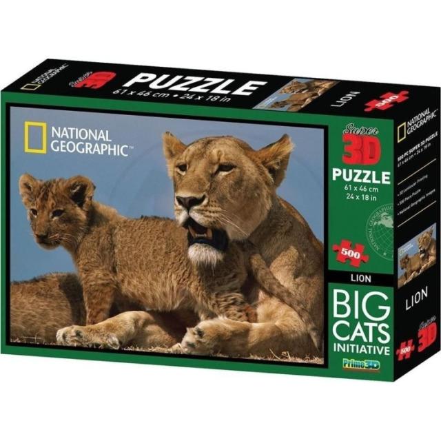Obrázek produktu 3D Puzzle Lvi 500 dílků