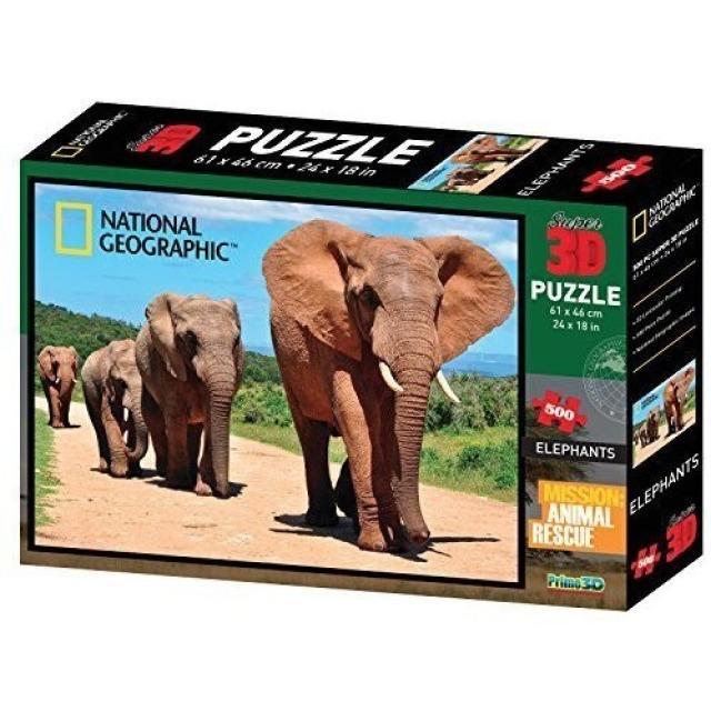 Obrázek produktu 3D Puzzle Sloni 500 dílků