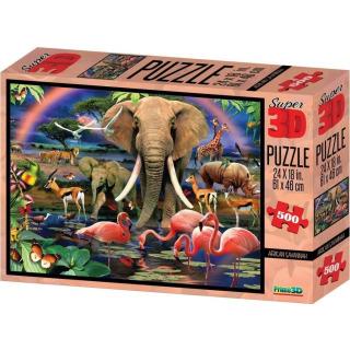 Obrázek 1 produktu 3D Puzzle Safari 500 dílků