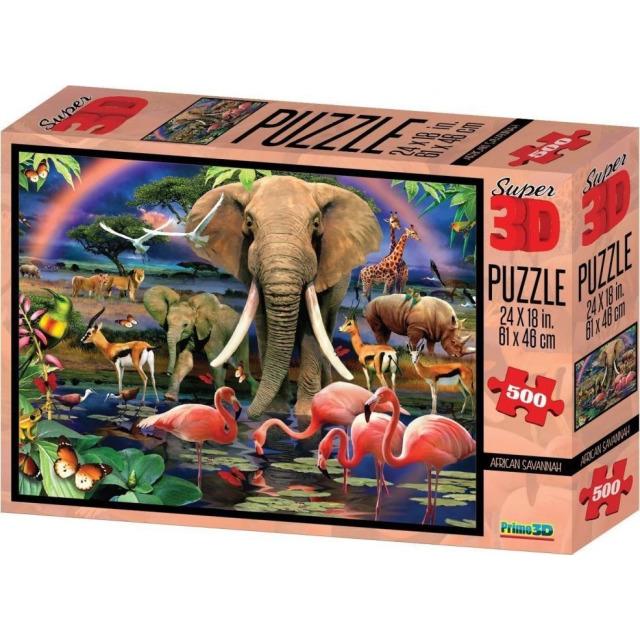 Obrázek produktu 3D Puzzle Safari 500 dílků