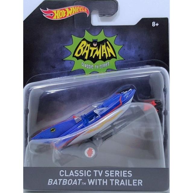 Obrázek produktu Hot Wheels prémiové auto Batman-Classic TV Series Batboat with Trailer