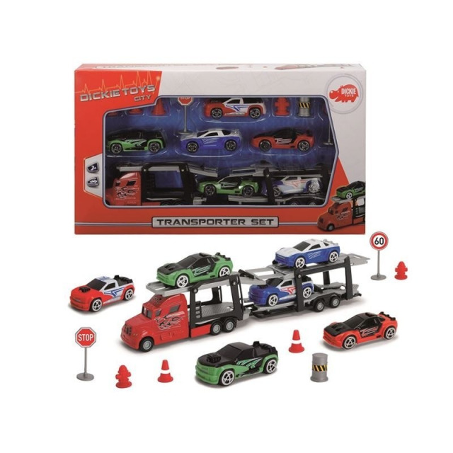 Obrázek produktu Autotransportér + 6 autíček, Dickie