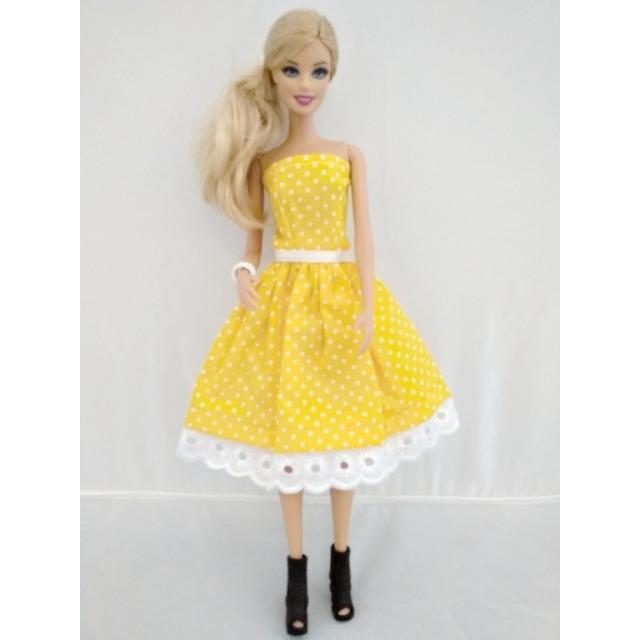 Obrázek produktu LOVEDOLLS Retro šaty žluté s puntíky