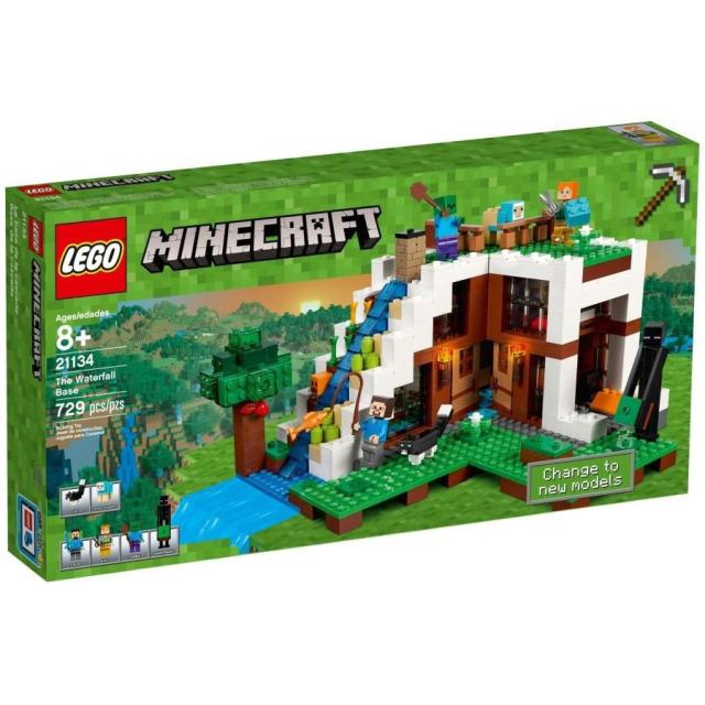 Obrázek produktu LEGO Minecraft 21134 Základna ve vodopádu