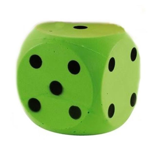 Obrázek produktu Číselná soft kostka 15cm, zelená
