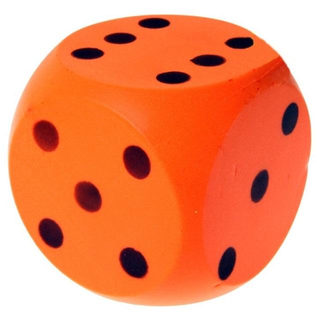 Obrázek produktu Číselná soft kostka 15cm, oranžová
