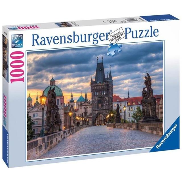 Obrázek produktu Ravensburger 19738 Puzzle Praha: Procházka po Karlově mostě 1000 dílků