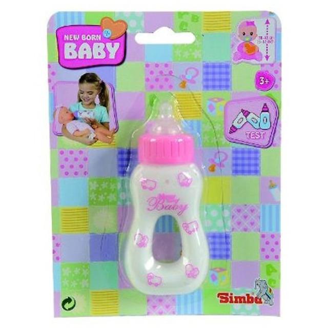 Obrázek produktu Kojenecká lahvička s mlékem 12cm růžová