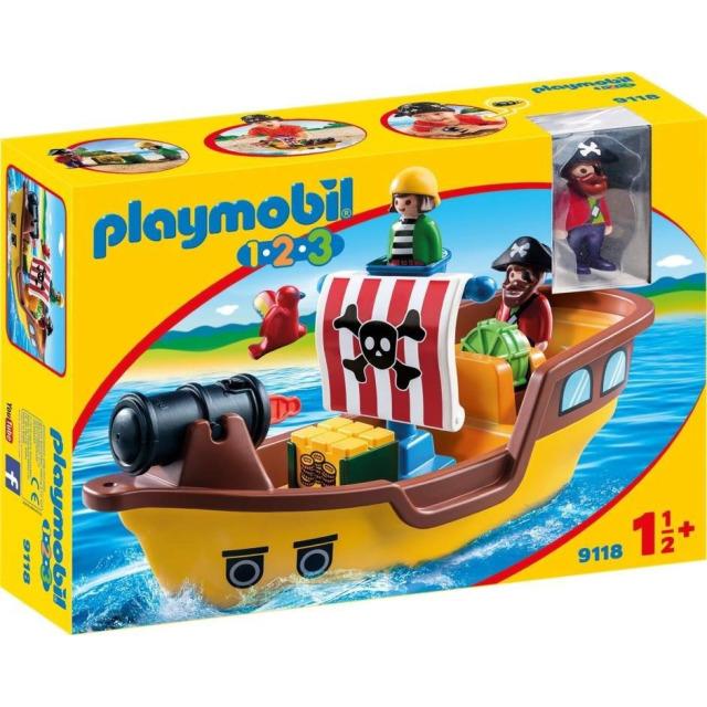 Obrázek produktu Playmobil 9118 Pirátská loď (1.2.3)