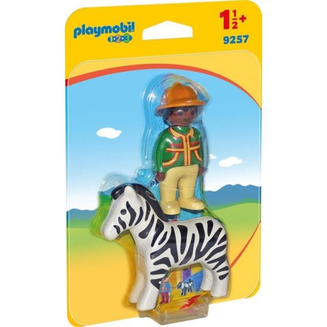 Obrázek produktu Playmobil 9257 Ošetřovatel a zebra (1.2.3)