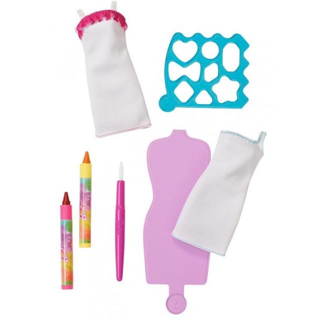 Obrázek produktu Barbie D.I.Y. akvarelové návrhářství růžovožluté, Mattel DWK51