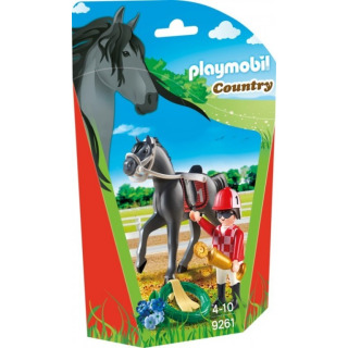 Obrázek 1 produktu Playmobil 9261 Žokej na koni