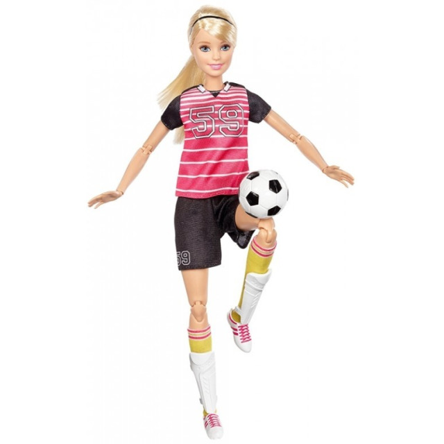Obrázek produktu Barbie sportovkyně Fotbalistka blondýnka, Mattel DVF69