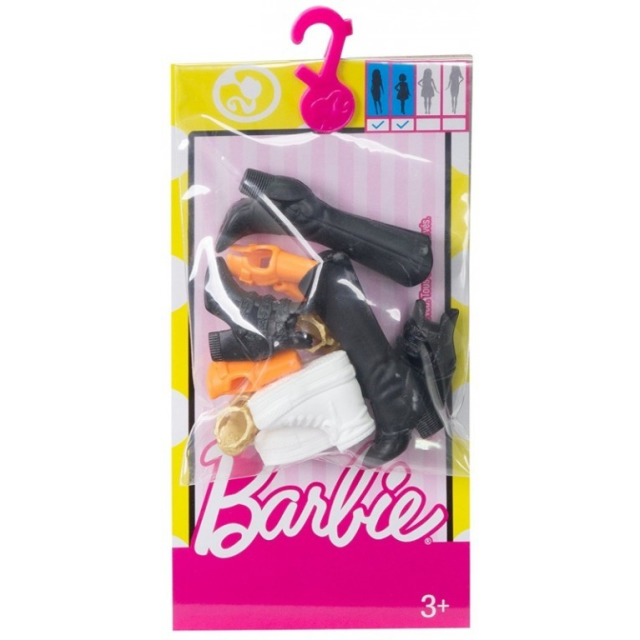 Obrázek produktu Barbie Boty černé, bílé, zlaté, oranžové Mattel FCR92