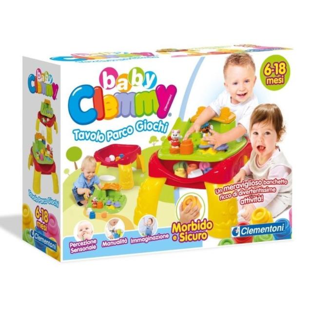 Obrázek produktu Clemmy baby Veselý hrací stolek s kostkami a zvířátky