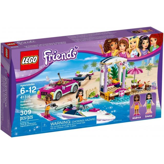 Obrázek produktu LEGO Friends 41316 Andrein vůz s přívěsem pro člun