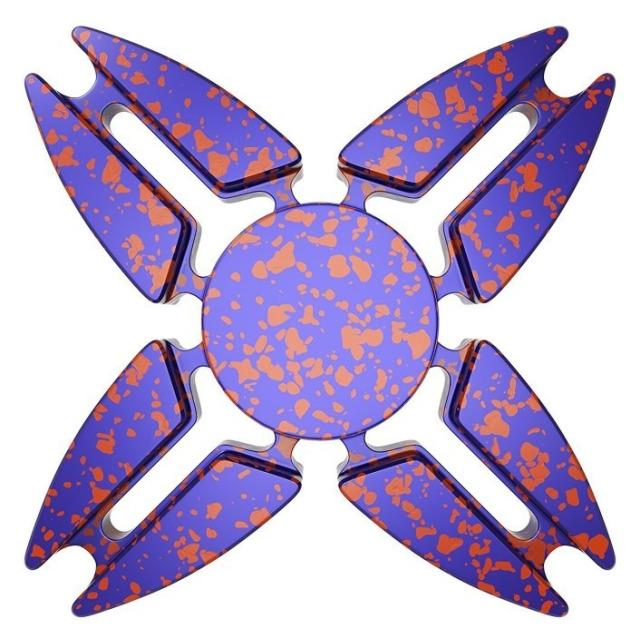 Obrázek produktu Fidget Spinner kov ALU STAR4 fialový
