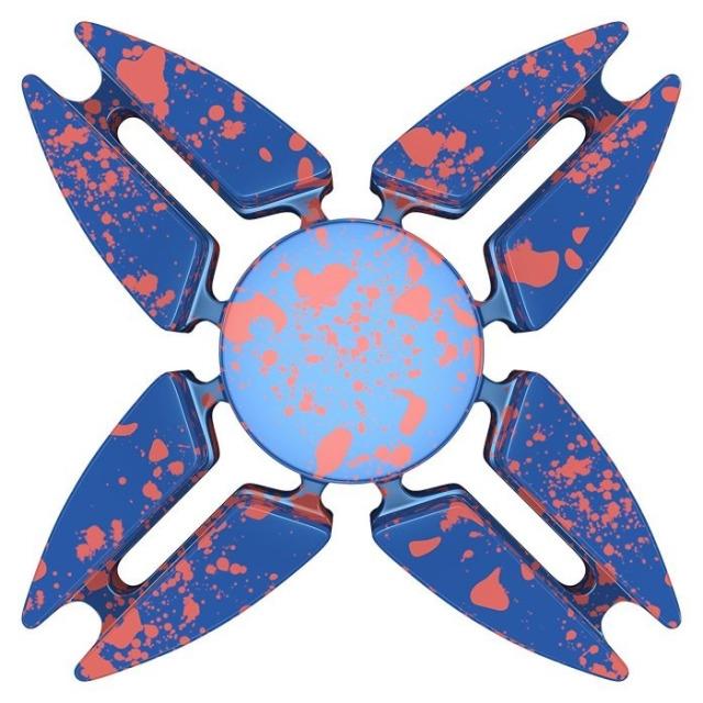 Obrázek produktu Fidget Spinner kov ALU STAR4 modrý