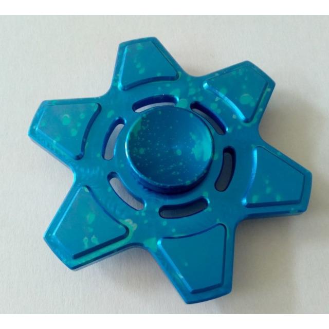 Obrázek produktu Fidget Spinner kov ALU STAR6 modrý
