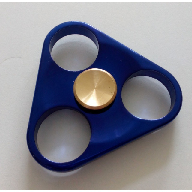Obrázek produktu Fidget Spinner kov, Triangl modrý