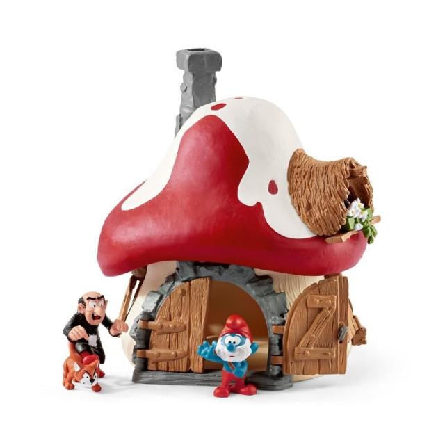 Obrázek produktu Schleich 20803 Šmoulí chaloupka se 2 figurkami Gargamela a taťky Šmouly