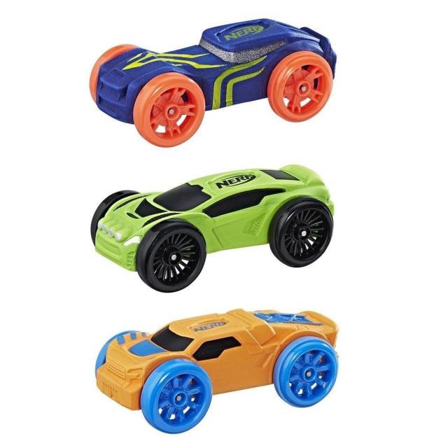 Obrázek produktu NERF Nitro náhradní vozidla 3 ks, modré, zelené, oranžové, Hasbro C0775