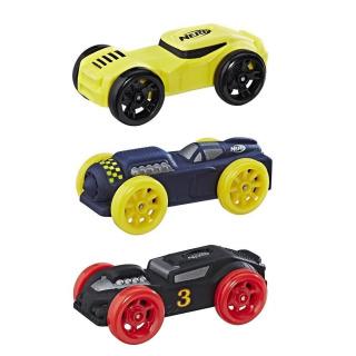 Obrázek 1 produktu NERF Nitro náhradní vozidla 3 ks, černé, modré, žluté, Hasbro C0778