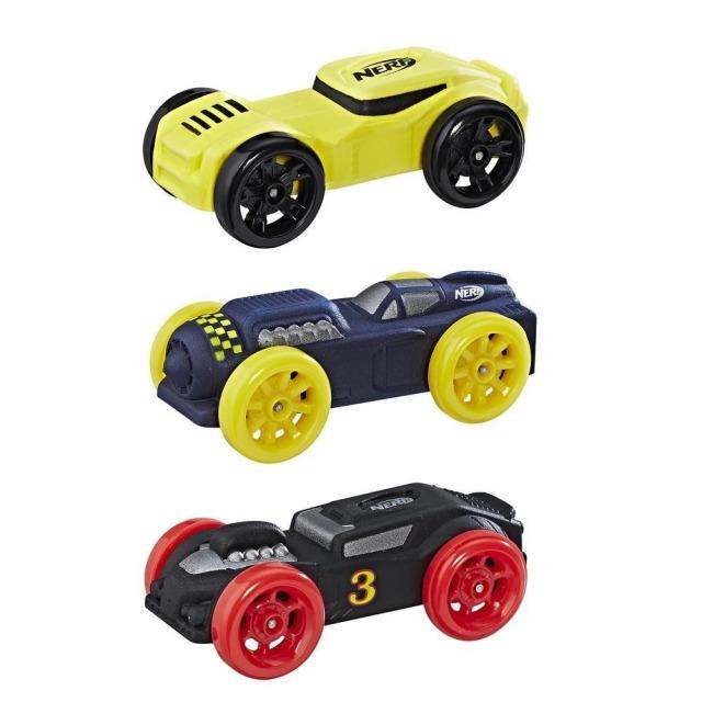 Obrázek produktu NERF Nitro náhradní vozidla 3 ks, černé, modré, žluté, Hasbro C0778