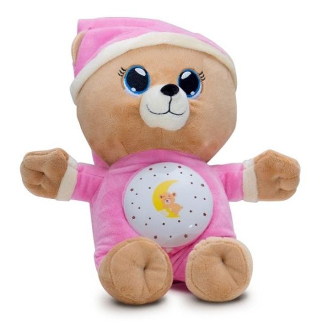 Obrázek produktu Usínáček medvídek růžový, světlo zvuk