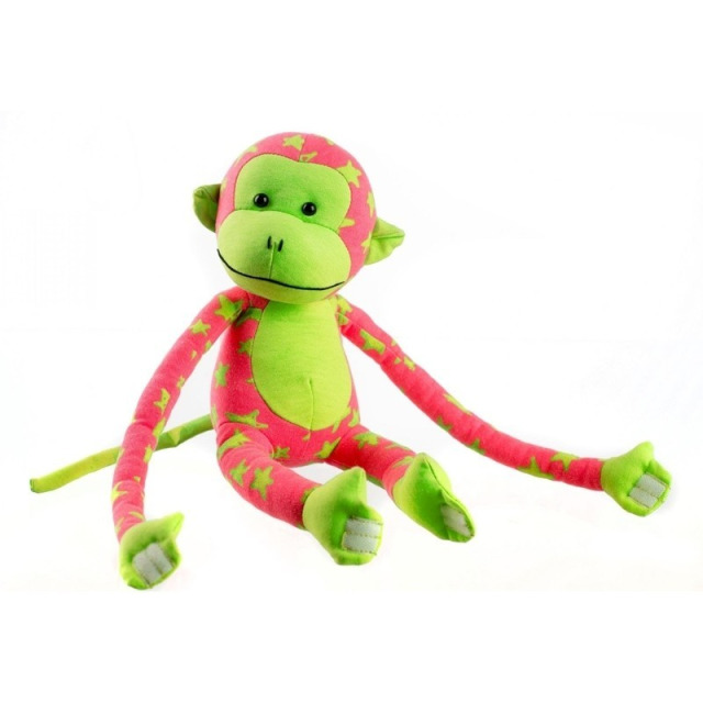 Obrázek produktu Opička svítící ve tmě růžovozelená 45 cm
