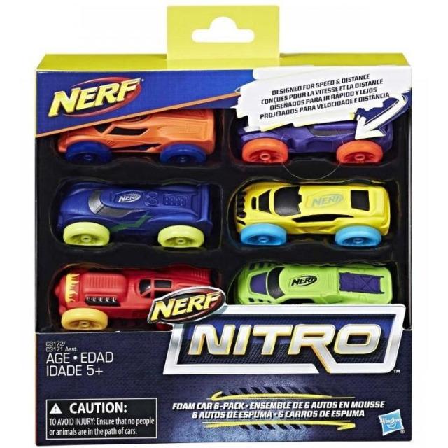 Obrázek produktu NERF Nitro náhradní vozidla 6 ks, Hasbro C3172