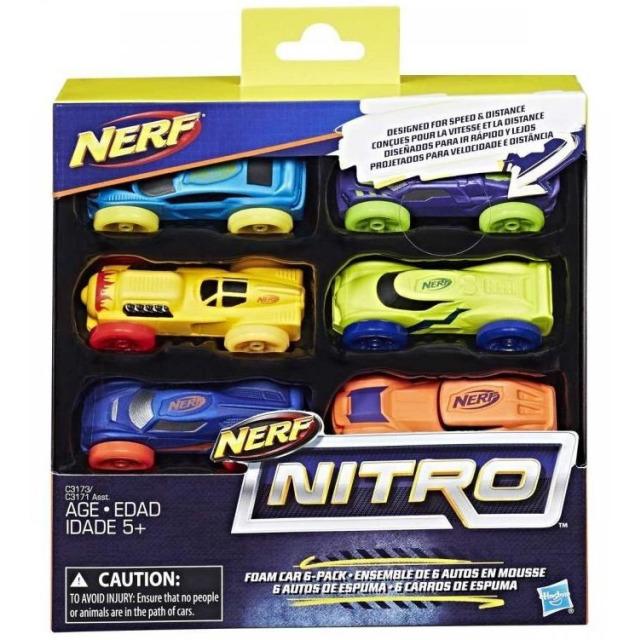 Obrázek produktu NERF Nitro náhradní vozidla 6 ks, Hasbro C3173