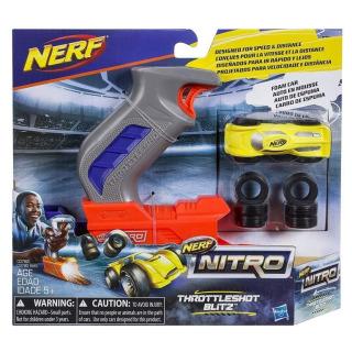 Obrázek 1 produktu NERF NitroThrottleshot Blizt žluté vozidlo, Hasbro C0782