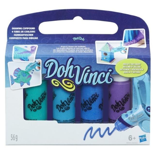 Obrázek produktu Play Doh Dohvinci 4 náhradní tuby -zelená, tyrkysová, modrá, fialová