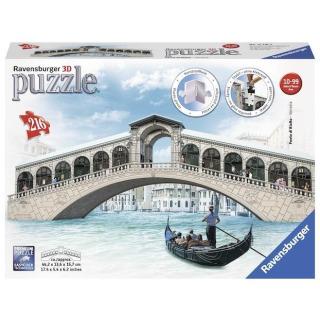 Obrázek 1 produktu 3D Puzzle Rialto most, Benátky, 216d. Ravensburger