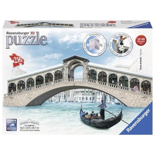 Obrázek produktu 3D Puzzle Rialto most, Benátky, 216d. Ravensburger