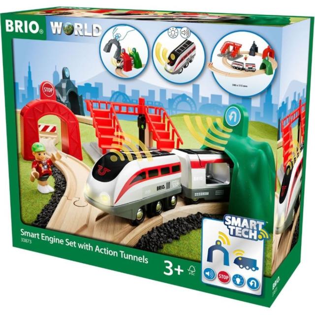 Obrázek produktu BRIO 33873 Smart Tech sada s chytrým vlakem a aktivními tunely