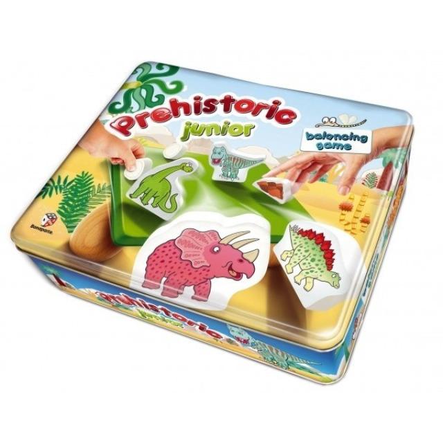 Obrázek produktu Balanční hra Prehistoric pro nejmenší dřevo v plechové krabici