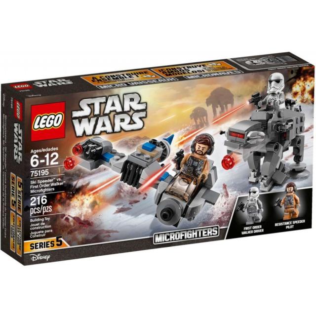Obrázek produktu LEGO Star Wars 75195 Snežný spídr™ a kráčející kolos Prvního řádu™