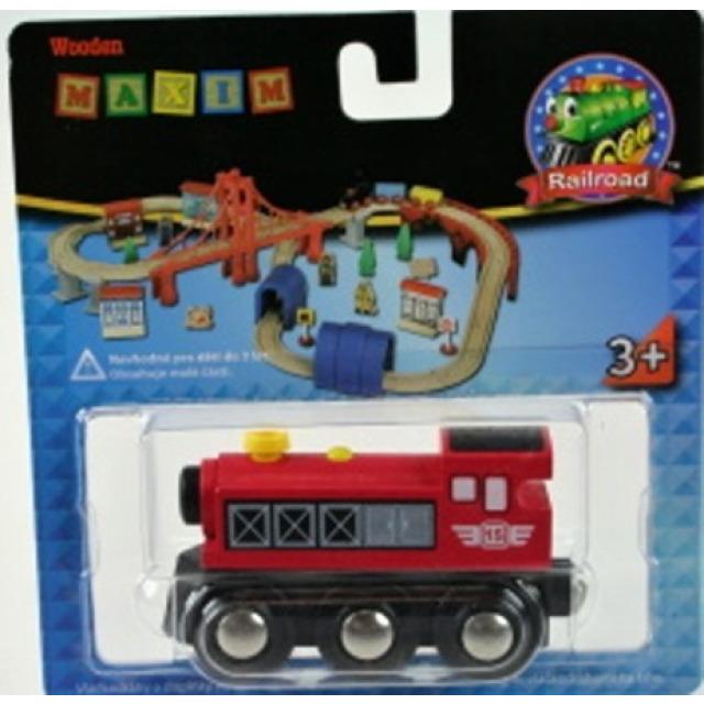 Obrázek produktu Maxim 50399 Parní lokomotiva - červená